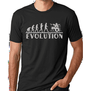 Think Out Loud Apparel Drummer Evolution Funny T-Shirt Drums Band Humor Tee Shirt