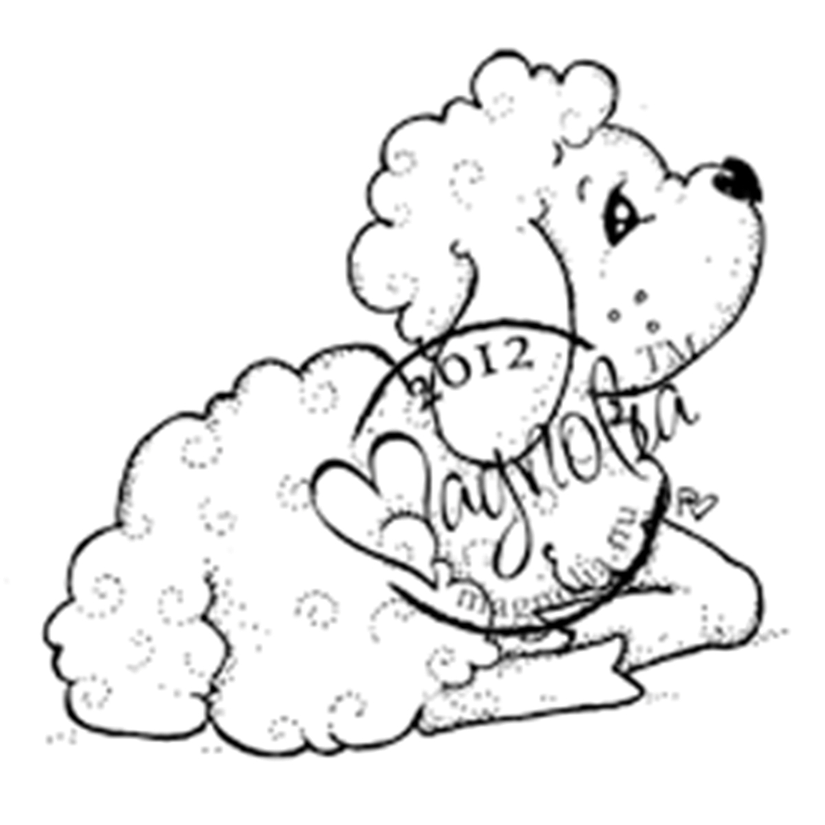 Nativity Cling Stamp-Holy Lamb