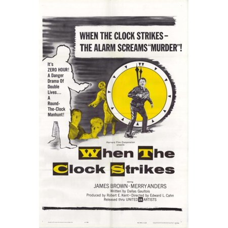 When The Clock Strikes Movie Poster Print  27 X 40