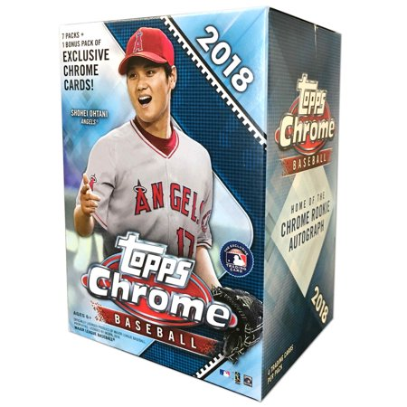 Topps Baseball Cello - 18 Topps Chrome MLB Baseball Value Box Trading Cards