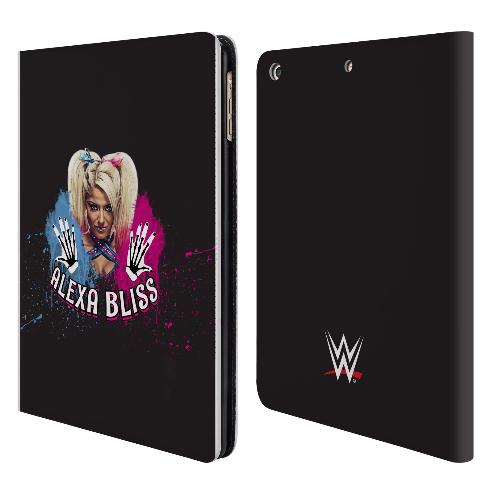OFFICIAL WWE ALEXA BLISS LEATHER BOOK WALLET CASE COVER FOR APPLE IPAD