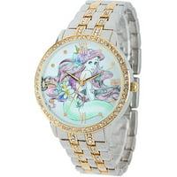 Ariel Women's Alloy Case Watch, Two-Tone CZ Bracelet