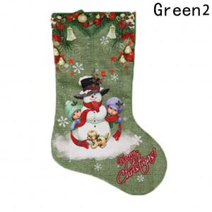 Large Christmas Stocking (Fancyleo 2 Pcs Large Christmas Stockings 3D Embroidered Classic Xmas Stockings for Christmas Tree Decorations Christmas Ornament Holiday Party Decoration Green)