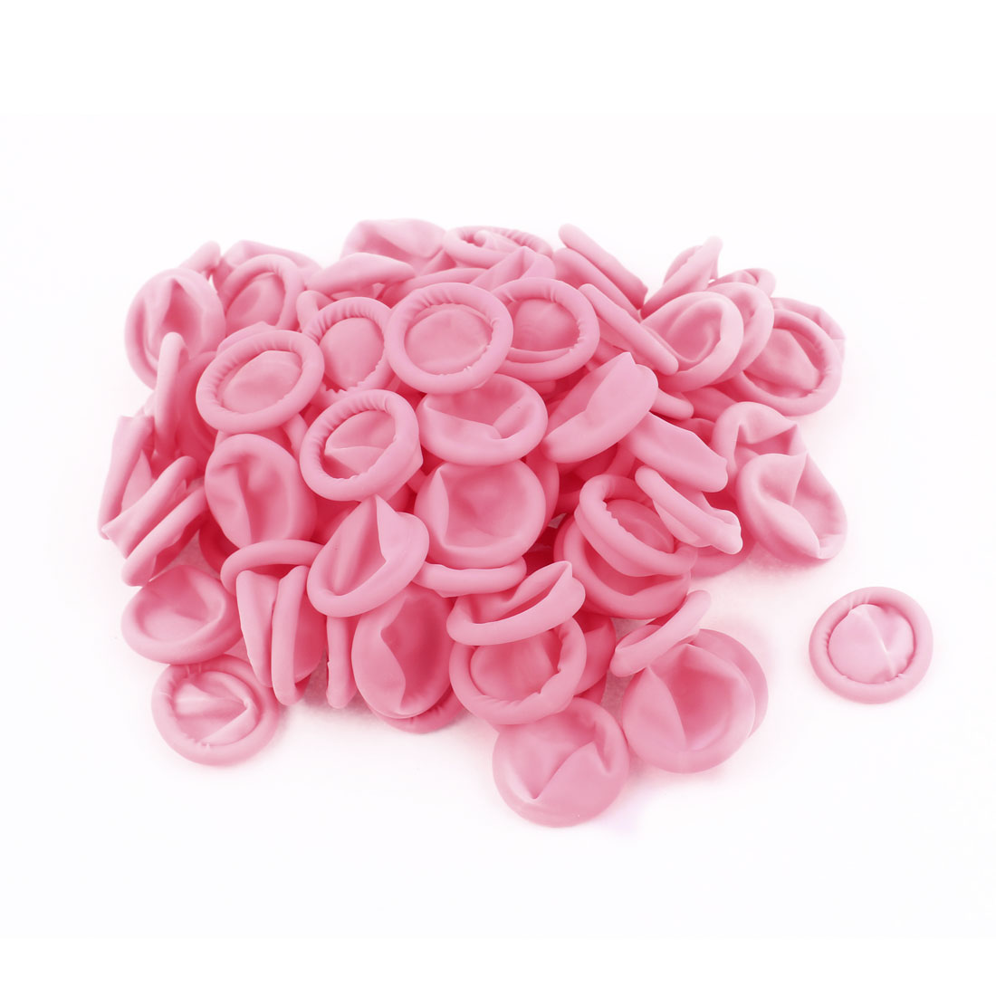 100Pcs Finger Protector Anti Static Rubber Latex Finger Cots Disposable Pink