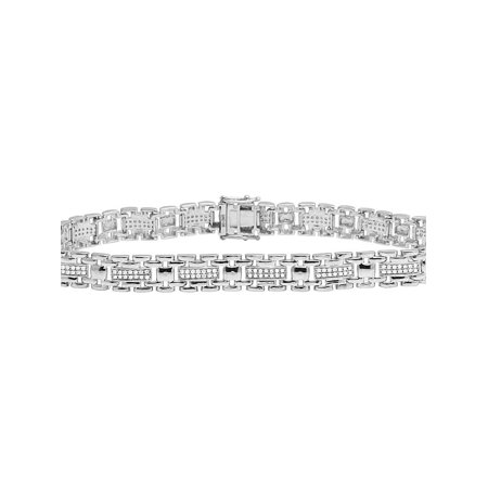 Men's 10K White Gold Real Diamond 9