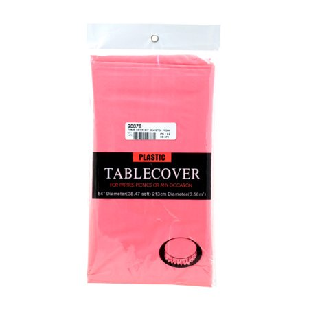 New 311446  Table Cover 84 Diameter Pink (12-Pack) Party Set Cheap Wholesale Discount Bulk Party Supplies Party Set Automobil. - Pink Discount