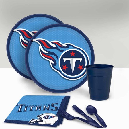 Tennessee Titans Tableware Party Pack for 16 (Tennessee Titans Party Supplies)
