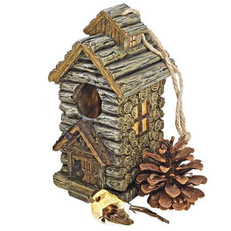Bird Wash House - Backwoods Bird House Collection: Cabin