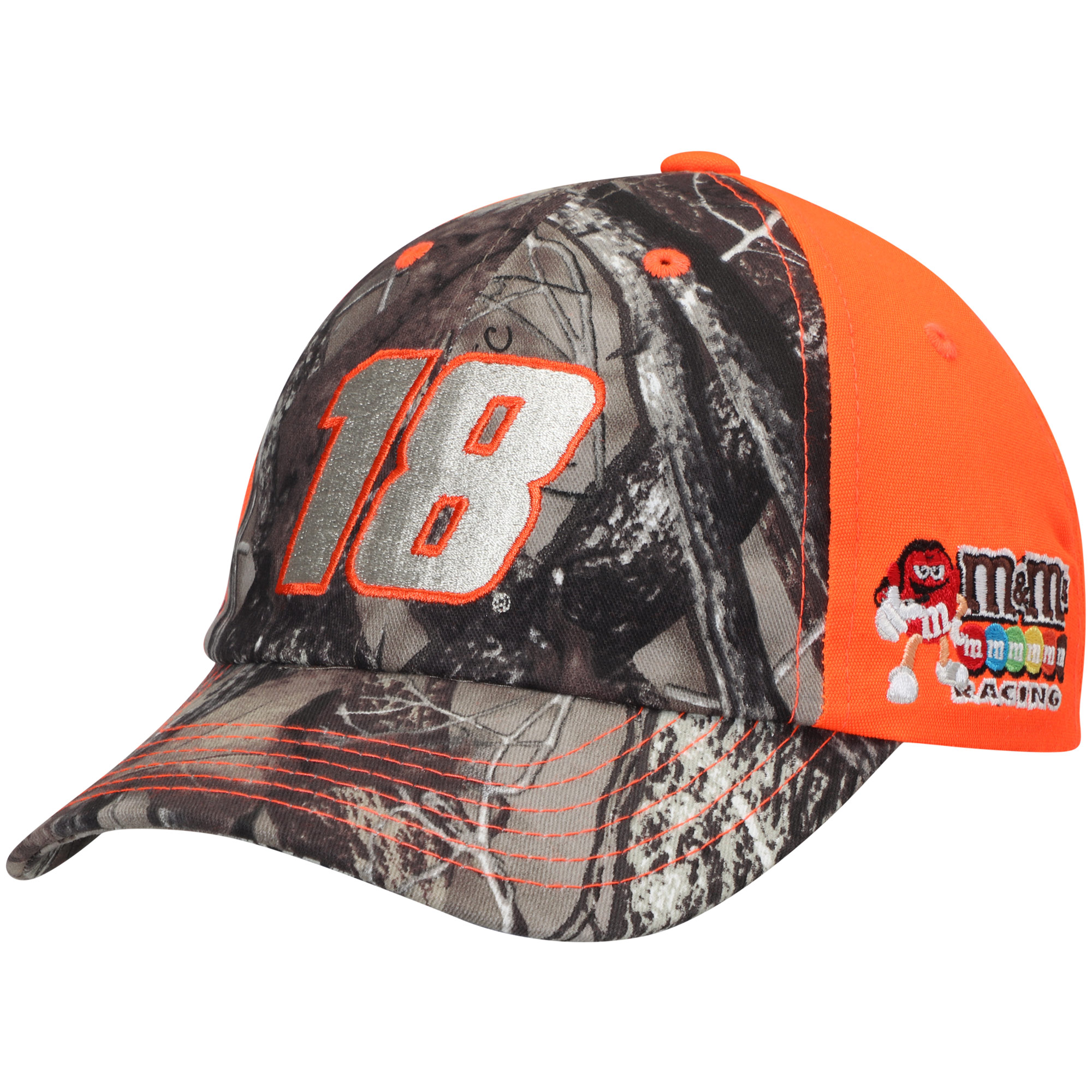 Kyle Busch Joe Gibbs Racing Team Collection Youth True Timber Blaze Adjustable Hat - Camo/Orange - OSFA