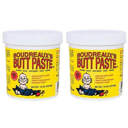 Childrens Diaper Ointment - (2 pack) Boudreaux's Butt Paste Diaper Rash Ointment, Original, 16 Oz
