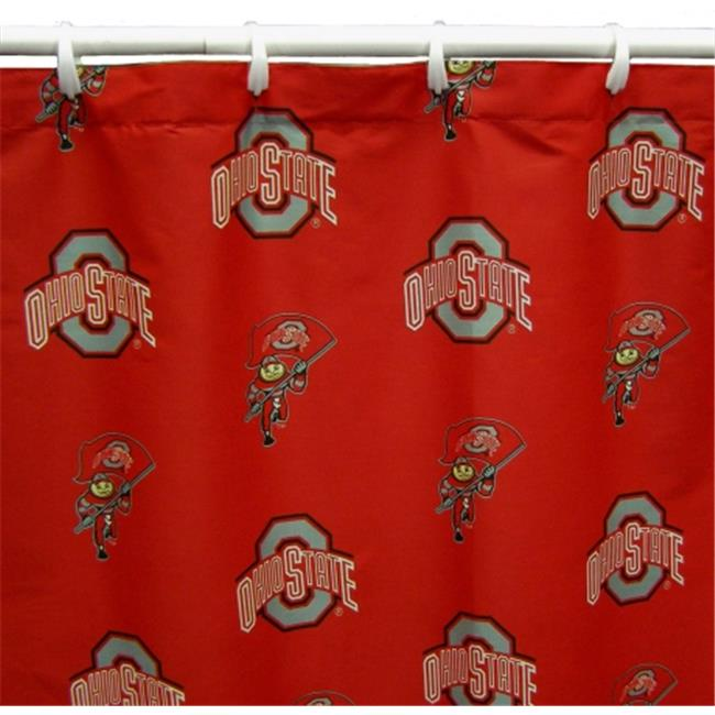 Comfy Feet OHISC Ohio State Printed Shower Curtain Cover 70 in. X 72 in.