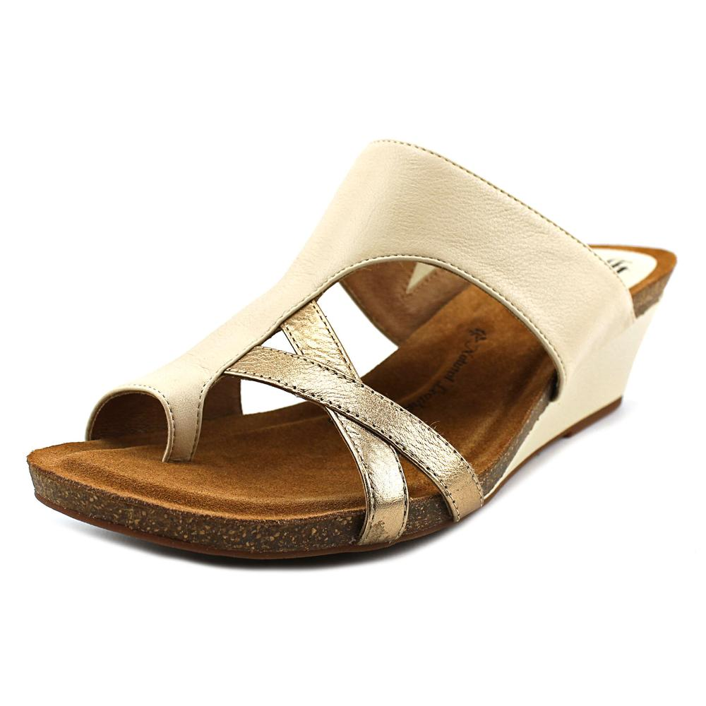 Sofft Vivi Women Open Toe Leather Ivory Wedge Sandal by Sofft