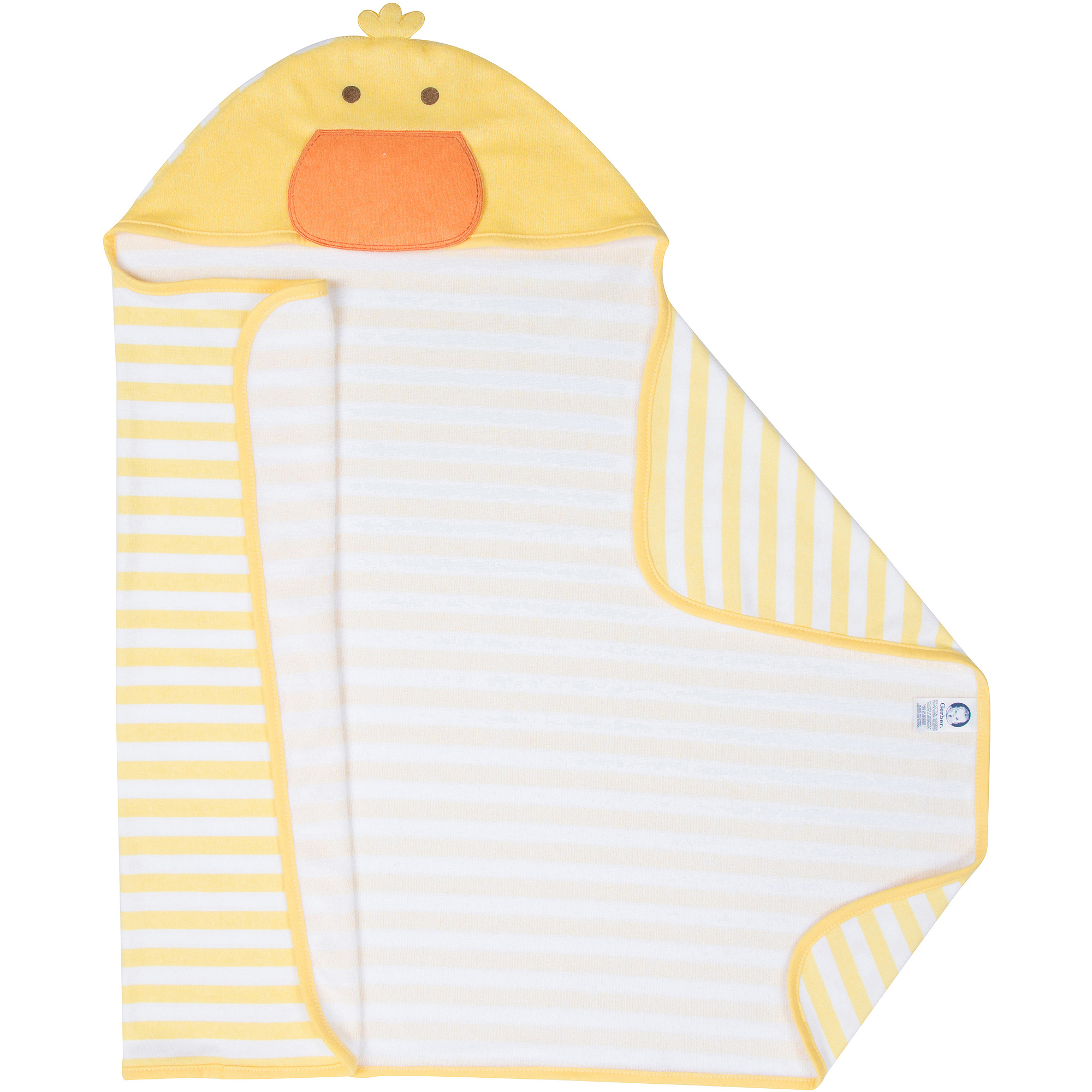 Gerber Newborn Baby Duck Terry Hooded Bath Wrap