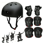 Skating Skateboard Helmet+6pcs Elbow Knee Wrist Pads Cycling Outdoor Sports for Youths Kids Children Teen Protective Gear Safety Scooter