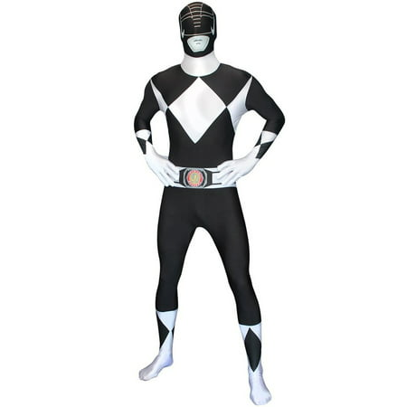 Power Rangers Morphsuit Adult Costume Black](Black Morphsuit Ideas For Halloween)