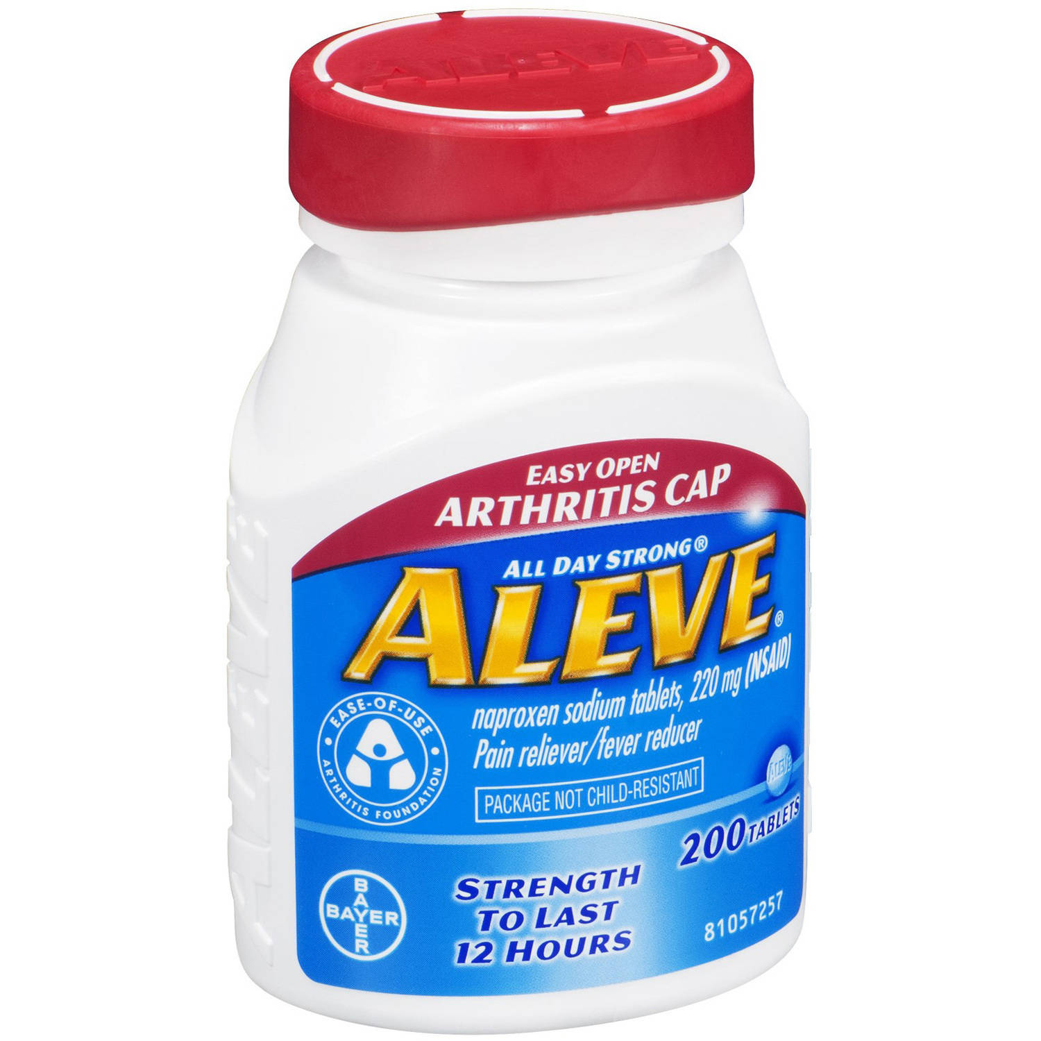 Aleve Pain Reliever Fever Reducer Tablets, 200 CT (Pack of 4)