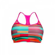 Stronger RX Pink Pattern Womens Sports Bra, Small