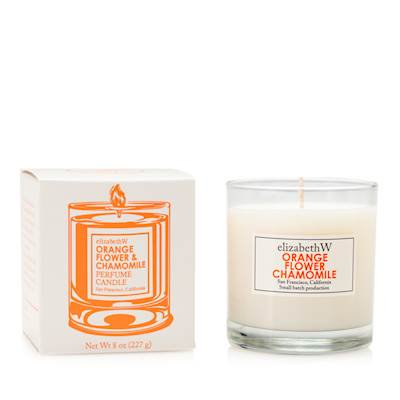 ORANGE FLOWER CHAMOMILE Elizabeth W Perfume Scented Jar Candle 8 -
