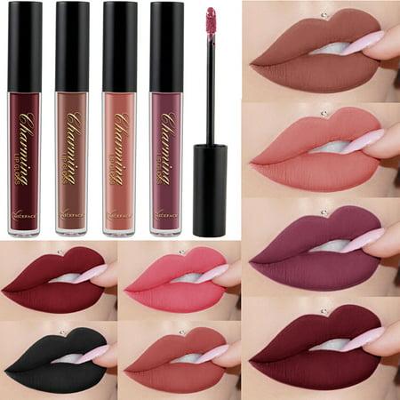 FeelinGirl Waterproof Matte Lip Glosses Set for Women - 12Colors Matte Liquid Lipstick
