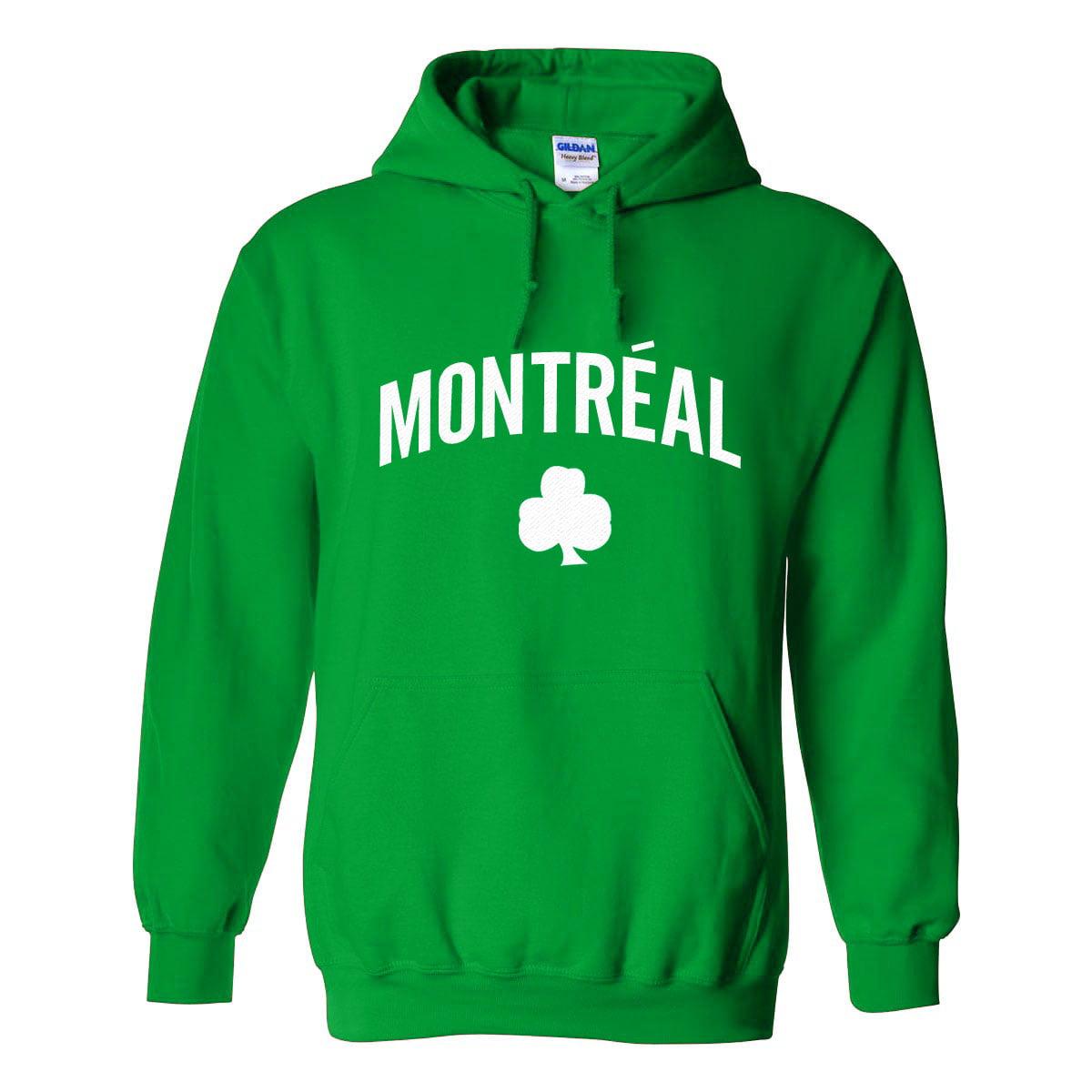 132ab9fbb Montreal Irish Pride Pullover Hoodie (Kelly) - IceJerseys