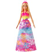 Barbie Dreamtopia Dress Up Doll Gift Set, 12.5-Inch, Blonde with 3 Fashions