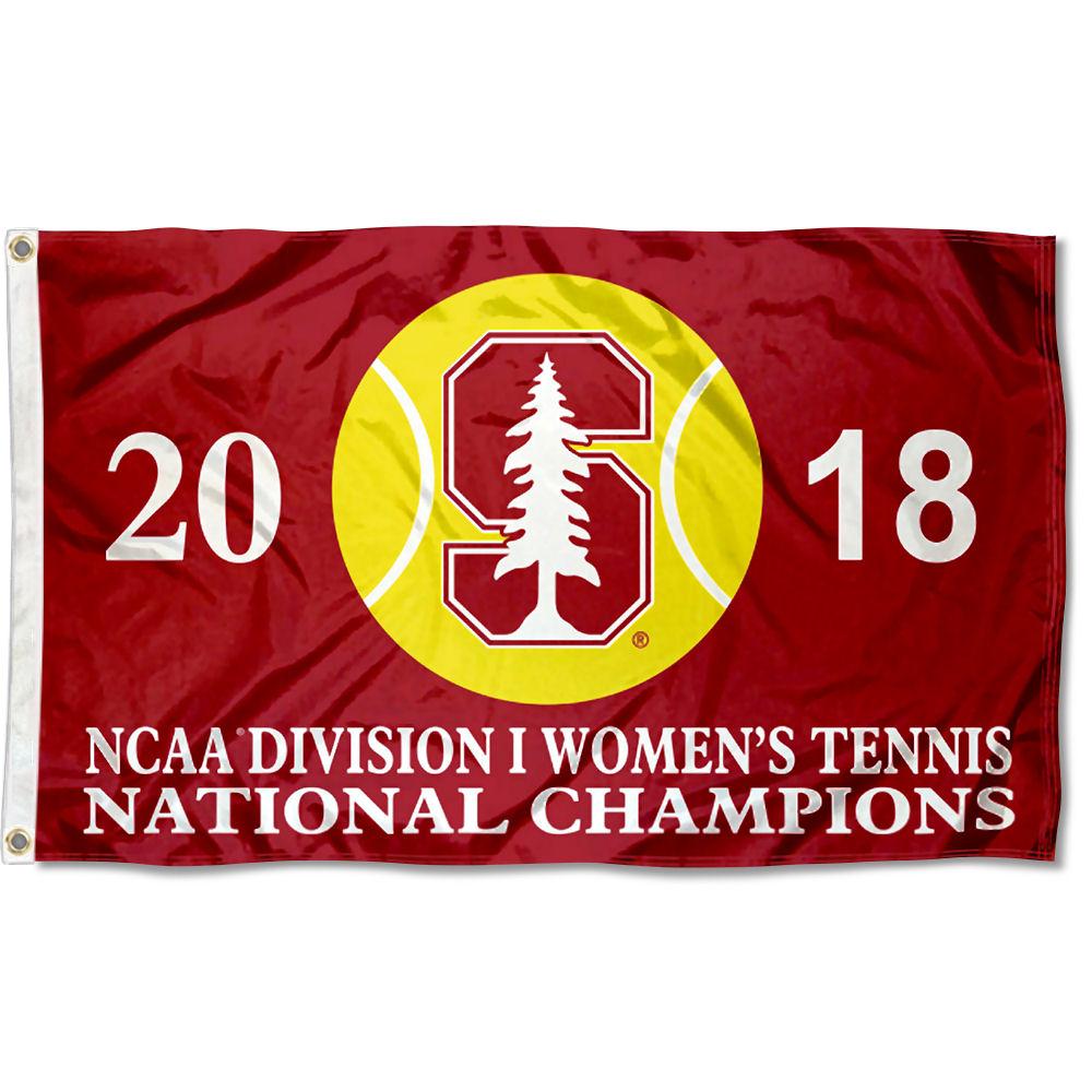 Stanford University Cardinal Womens Tennis 2018 National Champions Flag