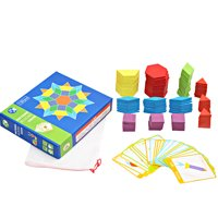 ToyWorld Wooden Jigsaw Puzzle Board Toy Colorful Baby Early Educational Toys Shape Color Children Learning Developing Toys
