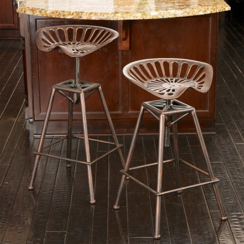 Chapman Saddle Seat Copper Counter Stool