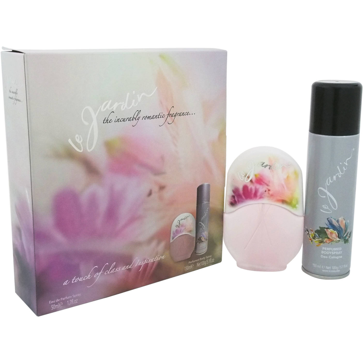 Le Jardin The Incurably Romantic Fragrance by Eden Classics for Women - 2 Pc Gift Set 1.7oz EDP Spray, 5.1oz Perfumed Body Spray