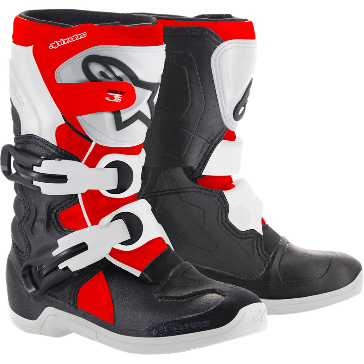 Alpinestars Tech 3s Kids/youth Boots Offroad Boot (multi Black/red/white, Usa Size 10)