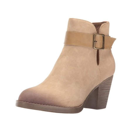 Bc Footwear Women's Cuddle Ankle Bootie, Taupe, Size 10.0