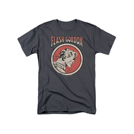 Flash Gordon Classic Comics Hero Flash In A Circle Adult T-Shirt Tee - Flash For Adults