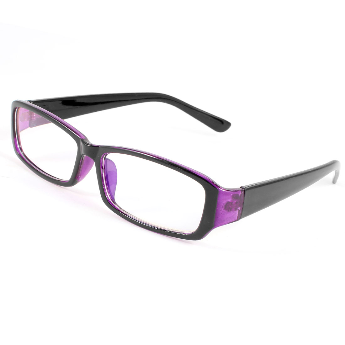 purple plastic frame multi coated lens plano