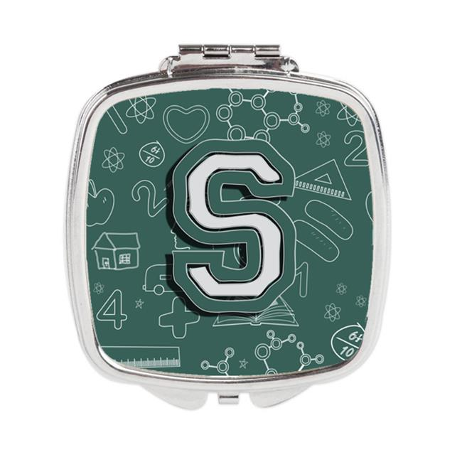 Carolines Treasures CJ2010-SSCM Letter S Back to School Initial Compact Mirror