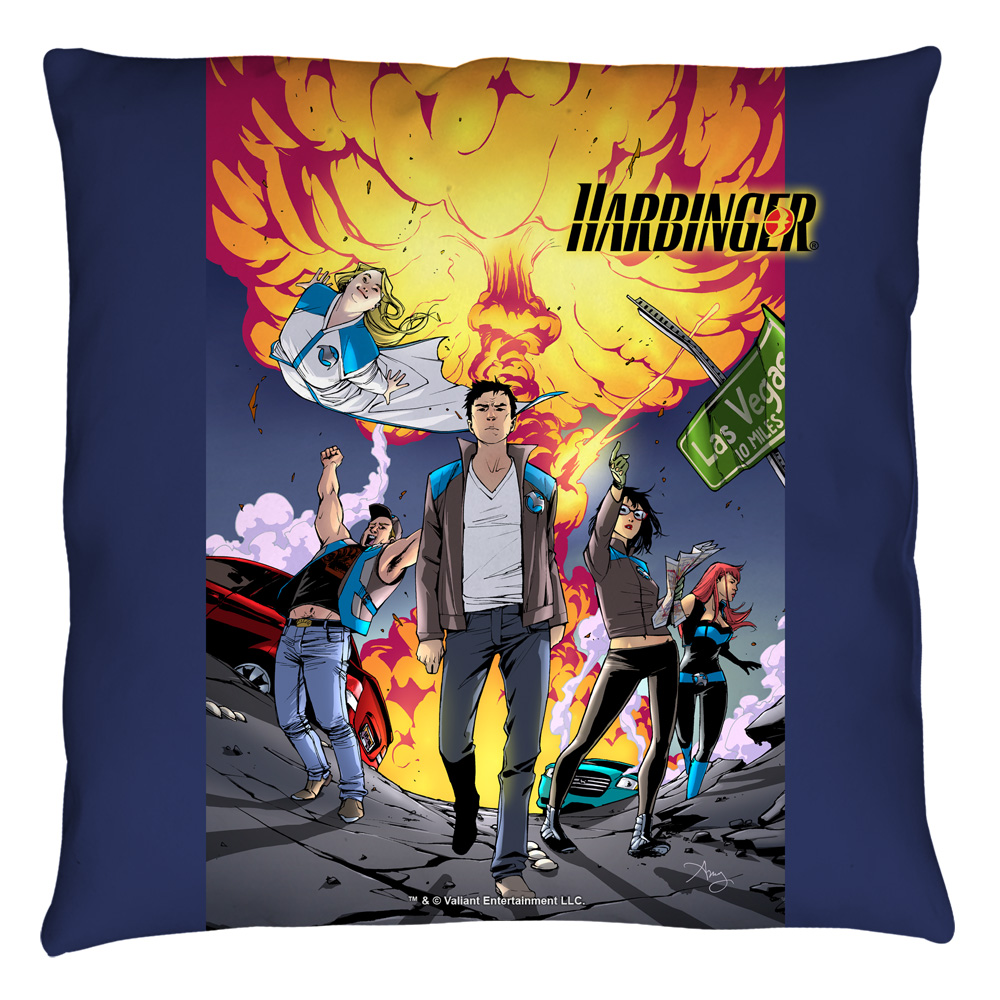 Harbinger Explosive Throw Pillow White 18X18