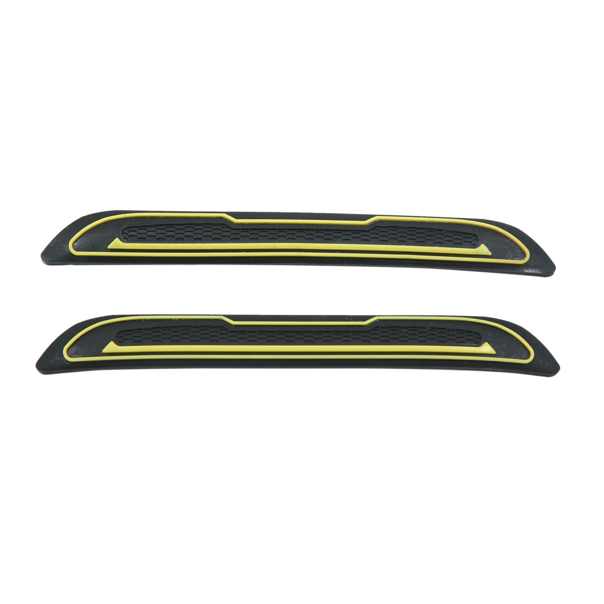 4pcs Yellow Car Door Edge Guards Trim Molding Protection Strip Scratch Protector - image 1 of 3