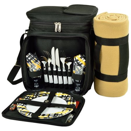 Freeport Park Equipped For 2 Cooler Picnic Tote Bag With Blanket