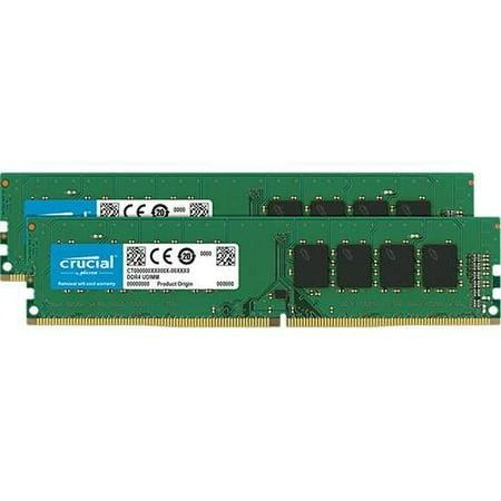 Crucial 32GB Kit (16GBx2) DDR4 2666 MT/s (PC4-21300) DR x8 DIMM 288-Pin Memory - CT2K16G4DFD8266 Crucial Dram Memory Upgrades