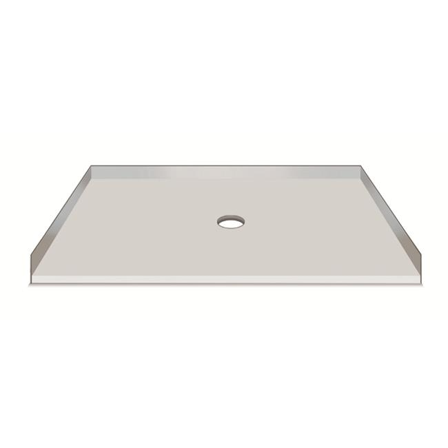 American Bath Factory S36321TP C 36 X 32 In. Single Ready To Tile Shower  Pan, 1 In. Thresholds