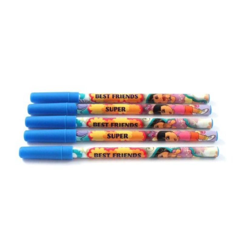 5pc Nick Jr. Dora the Explorer School Supplies Colorful Kids Stick Pens by