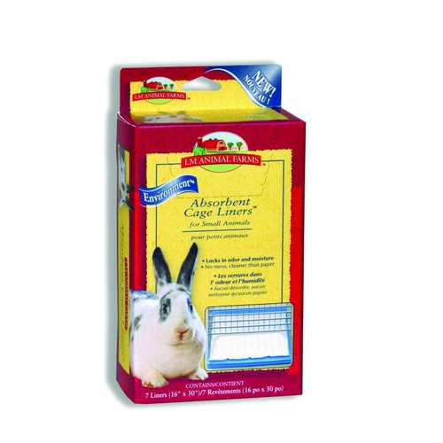 LM Animal Farms Absorbent Cage Liners for Small Animals Multi-Colored