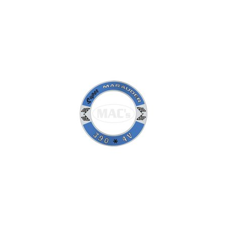 MACs Auto Parts  60-47777 Air Cleaner Decal - Super Marauder 390 *4V - Mercury Auto Parts Air Filter