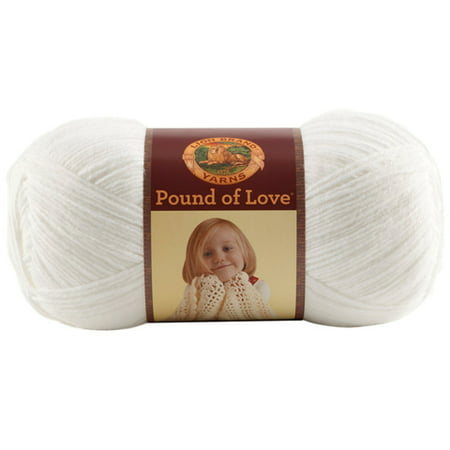 Lion Brand Yarns Pound Love White Yarn, 1 Each