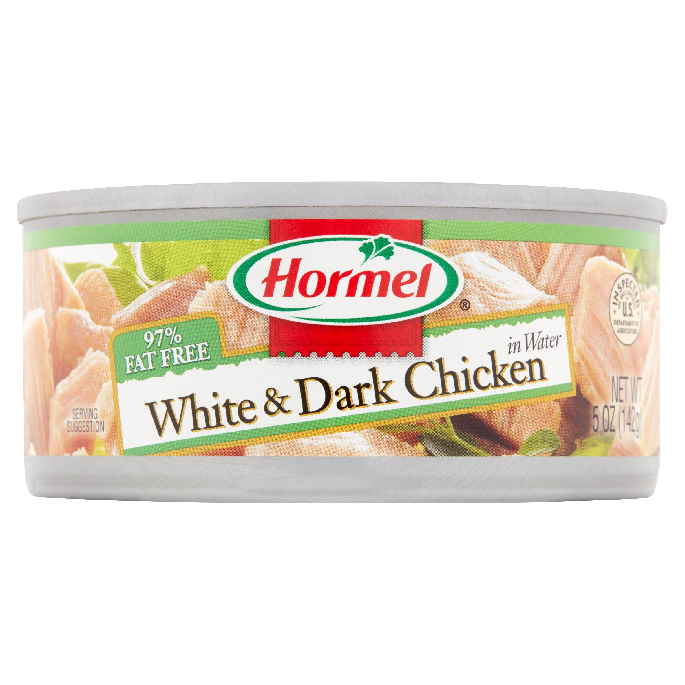Hormel White & Dark Chicken in Water 5 oz. Can.
