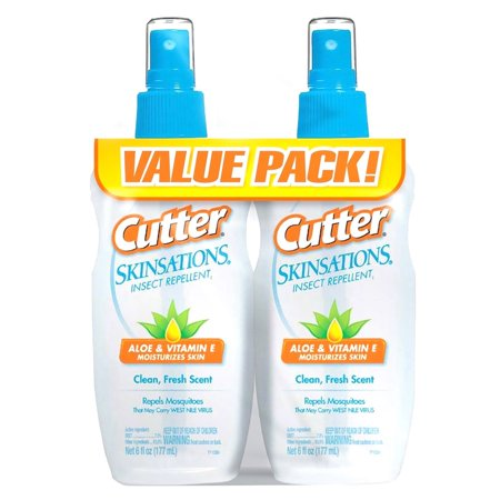 Cutter Skinsations Insect Mosquito Repellent 6oz Pump Spray 7% DEET (Twin Pack) ()