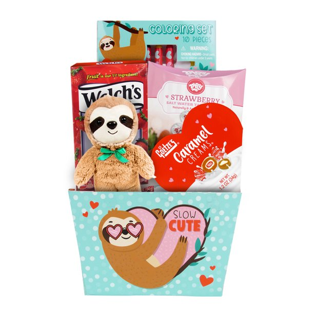 Megatoys Sloth Plush Box With Asstd Candy Valentine S Day Gift Set Walmart Com Walmart Com