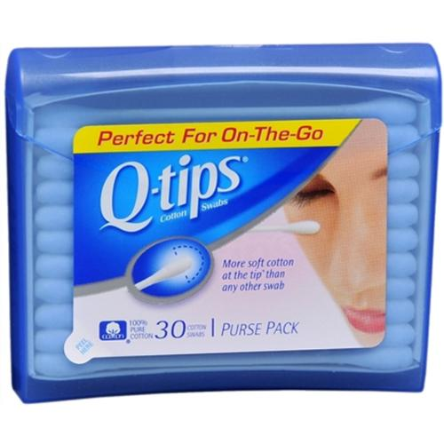 Q-Tips Purse Pack Cotton Swabs, 30ct