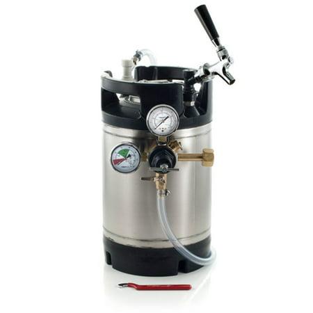 1. 75 Gallon Ball Lock Keg System w/Faucet Adapter, New AIH Keg