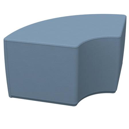 SoftZone® Quarter Circle Ottoman Standard - Powder Blue Blue Circle Pendant