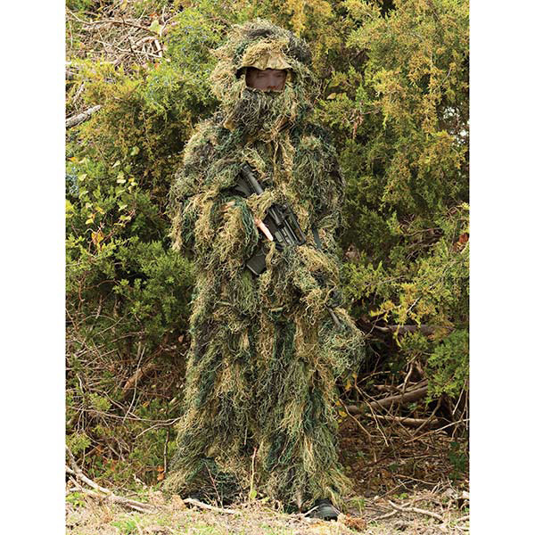 5-Piece Ghillie Suit Woodland - Medium/Large